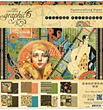 Graphic 45 Double-Sided Paper Pad 8x8 24pk - Vintage Hollywood, 8 Designs