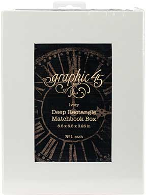 Graphic 45 Staples - Deep Matchbook Box (8.5x6.25x3)