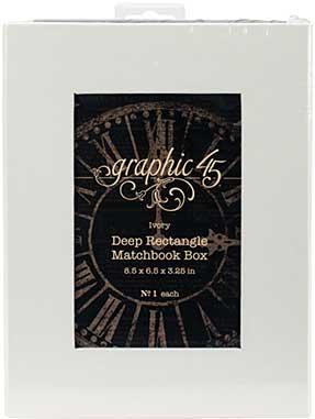 Graphic 45 Staples Deep Matchbook Box (8.5x6.25x3)