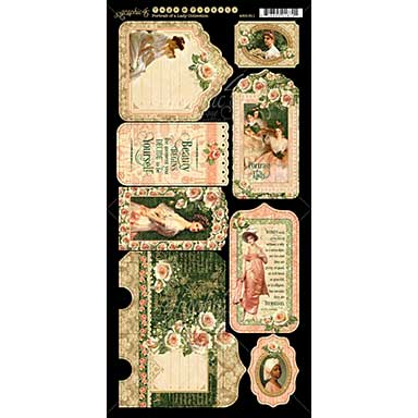 Portrait of a Lady Cardstock Die-Cuts 6X12 Sheets 2pk - Tags and Pockets