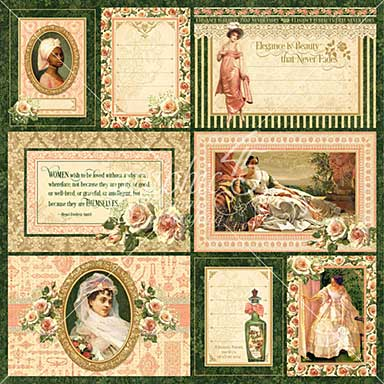 SO: Portrait of a Lady Journaling and Ephemera Cards - (16) 4X6 and (16) 3X4