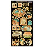 Vintage Hollywood Chipboard Die-Cuts 6X12 Sheet - Decorative
