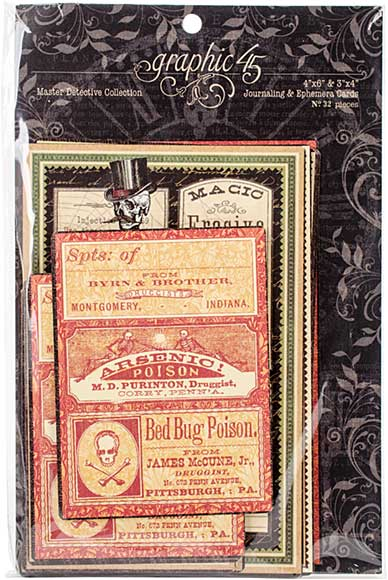 Graphic 45 Master Detective Journaling and Ephemera Cards