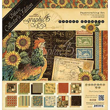 Graphic 45 French Country - Deluxe Collectors Edition Pack 12x12