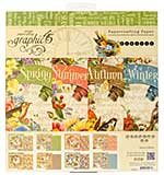SO: Graphic 45 8x8 Paper Pad - Seasons (24 double-sided sheets, 8 designs)