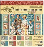 Graphic 45 Pennys Paper Doll 8x8 Double-Sided Paper Pad 24pk (8 Designs 3 Each)