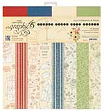 SO: Graphic 45 Pennys Paper Doll 12x12 Double-Sided Paper Pad Print and Solid, 16pk (8 Designs)