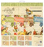 Graphic 45 Seasons 12x12 Double-Sided Paper Pad 24pk (8 Designs 3 Each)