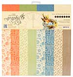 Graphic 45 Seasons 12x12 Double-Sided Paper Pad Print and Solid, 16pk (8 Designs)