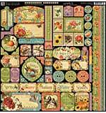 Graphic 45 Seasons Decorative Cardstock Stickers 12x12