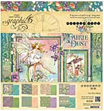 Graphic 45 Fairie Dust 8x8 Double-Sided Paper Pad 24pk (8 Designs 3 Each)
