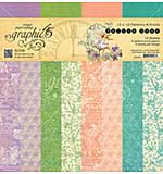 SO: Graphic 45 Fairie Dust 12x12 Double-Sided Paper Pad Print and Solid, 16pk (8 Designs)