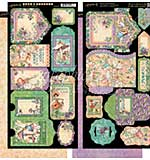 Graphic 45 Fairie Dust Tags and Pockets 6x12 Cardstock Die-Cuts Sheets (2pk)