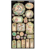 SO: Graphic 45 Fairie Dust Chipboard Decorative and Journaling Die-Cuts 6x12 Sheet