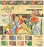 Graphic 45 Little Women 8x8 Double-Sided Paper Pad 24pk (8 Designs 3 Each)