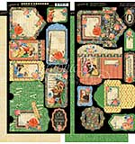 Graphic 45 Little Women Tags and Pockets 6x12 Cardstock Die-Cuts Sheets (2pk)