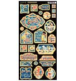 Graphic 45 Sun Kissed Chipboard Decorative and Journaling Die-Cuts 6x12 Sheet