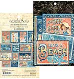 Graphic 45 Sun Kissed Journaling and Ephemera Cards 32pk (4x6 and 3x4)