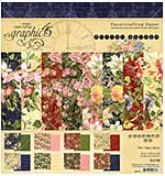 PRE: Graphic 45 Floral Shoppe 8x8 Double-Sided Paper Pad 24pk (8 Designs 3 Each)