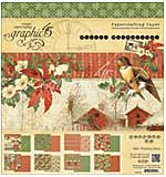 Graphic 45 Winter Wonderland 8x8 Double-Sided Paper Pad 24pk (8 Designs 3 Each)