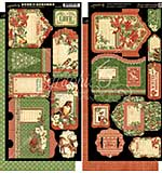 Graphic 45 Winter Wonderland Tags and Pockets 6x12 Cardstock Die-Cuts Sheets (2pk)