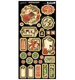 Graphic 45 Winter Wonderland Chipboard Decorative and Journaling Die-Cuts 6x12 Sheet