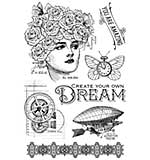 PRE: Graphic 45 Imagine - Dream - Clear Acrylic Stamps