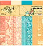 PRE: Graphic 45 Imagine - Patterns and Solids Double-Sided Paper Pad 12x12 (16pk)