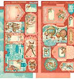 PRE: Graphic 45 Imagine - Tags and Pockets Cardstock Die-Cuts 6x12 Sheets 2pk