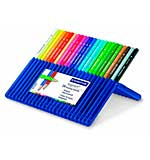 Staedtler Ergosoft 24 Triangular Coloured Pencils - Crayons in Platic Case