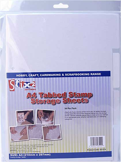 Stix 2 - A4 Tabbed Stamp Storage Sheets (4PK)