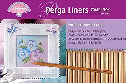 Pergamano Perga Liners 36 Pencil Combi Box (20 Aquarelle, 16 Basic)