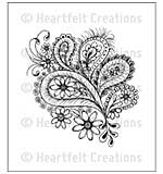 Heartfelt Creations Cling Rubber Stamp Set 5x7.75 - Peacock Paisley