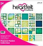 Heartfelt Double-Sided Paper Pad 12x12 24pk - Peacock Paisley