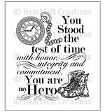 SO: Heartfelt Creations Cling Rubber Stamp Set 5x6.5 - My Hero (ED15)
