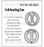 Heartfelt Creations Cling Rubber Stamp Set 5x6.5 - You Inspire Me (ED15)