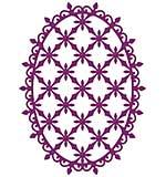 SO: Heartfelt Creations Cut and Emboss Dies - Decorative Oval (CF15)