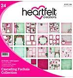 SO: Heartfelt Double-Sided Paper Pad 12x12 24pk - Cascading Fuchsia (CF15)