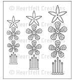 SO: Heartfelt Creations Cling Rubber Stamp Set 5x6.5 - Cascading Fuchsia (CF15)