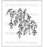 Heartfelt Creations Cling Rubber Stamp Set 5x6.5 - Fuchsia Spray (CF15)