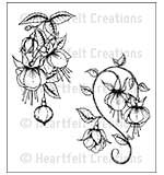 SO: Heartfelt Creations Cling Rubber Stamp Set 5x6.5 - Fuchsia Clusters (CF15)