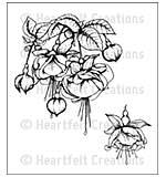 SO: Heartfelt Creations Cling Rubber Stamp Set 5x6.5 - Fuchsia Bouquet (CF15)