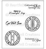 SO: Heartfelt Creations Cling Rubber Stamp Set 5x6.5 - Heartfelt Sentiments (CF15)