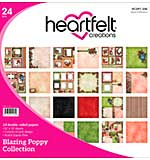 Heartfelt Double-Sided Paper Pad 12x12 24pk - Blazing Poppy (BP15)