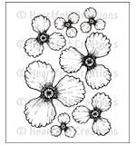 Heartfelt Creations Cling Rubber Stamp Set 5x6.5 - Blazing Poppy Petals (BP15)