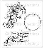 SO: Heartfelt Creations Cling Rubber Stamp Set 5x6.5 - Sparkling Poinsettia Swirl (SP15)