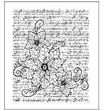 SO: Heartfelt Creations Cling Rubber Stamp Set 5x6.5 - Sparkling Poinsettia Notes (SP15)