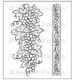 Heartfelt Creations Cling Rubber Stamp Set 5x6.5 - Italian Grape Borders