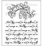 Heartfelt Creations Cling Rubber Stamp Set 5x6.5 - Italiana Script