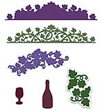 Heartfelt Creations Cut and Emboss Dies - Italiana Grape Clusters
